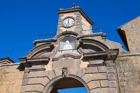 clocktower: Porta di Poggio. Tuscania. Lazio. Italy.