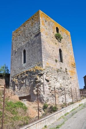 tuscania: Medieval tower. Tuscania. Lazio. Italy. Stock Photo