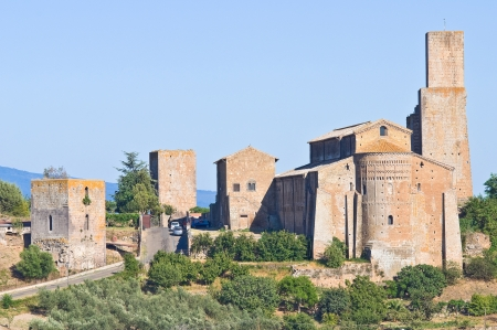 Panoramic view of Tuscania. Lazio. Italy. photo