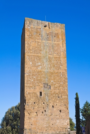 etruscan: Tower of Lavello. Tuscania. Lazio. Italy. Stock Photo