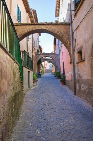 lazio: Alleyway. Tuscania. Lazio. Italy.