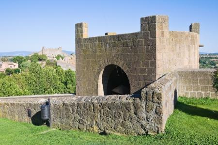 bulwark: Fortified walls. Tuscania. Lazio. Italy.