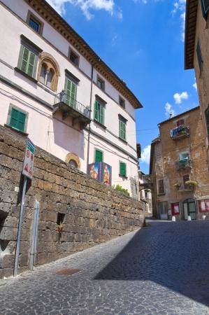 orvieto: Callej�n. Orvieto. Umbr�a. Italia. Foto de archivo