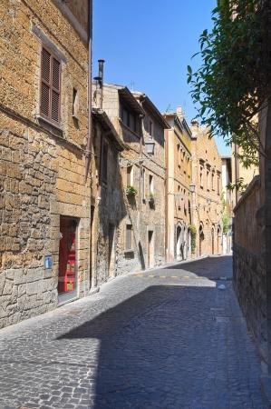 etrurian: Alleyway. Orvieto. Umbria. Italy. Stock Photo