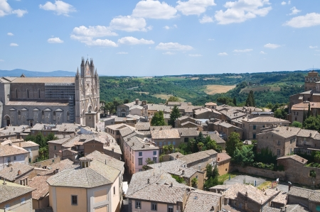 etruscan: Panoramic view of Orvieto. Umbria. Italy. Stock Photo