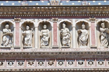 ecclesiastical: Cathedral of Orvieto  Umbria  Italy