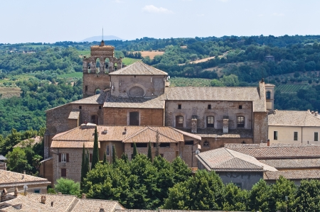 etrurian: Panoramic view of Orvieto. Umbria. Italy. Stock Photo