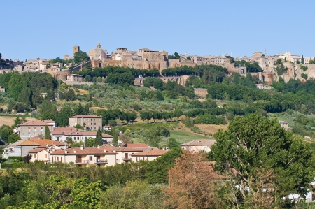 etruscan: Panoramic view of Orvieto. Umbria. Italy. Editorial