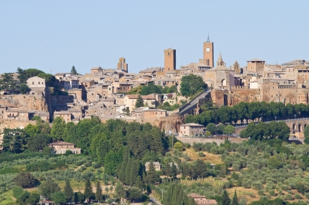 etrurian: Panoramic view of Orvieto. Umbria. Italy. Stock Photo