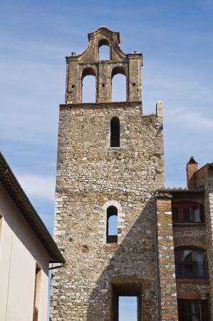 bernardino: Belltower of St. Bernardino. Narni. Umbria. Italy. Stock Photo