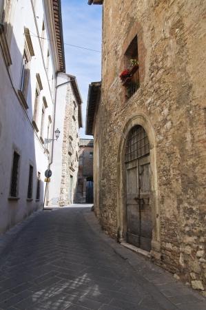 etruscan: Alleyway. Narni. Umbria. Italy. Stock Photo
