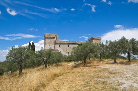 tuscia: Albornoz fortress. Narni. Umbria. Italy.
