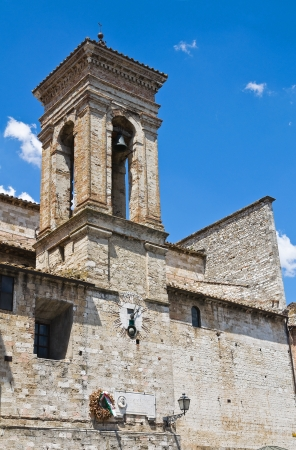 etruscan: Cathedral of St. Giovenale. Narni. Umbria. Italy.  Stock Photo