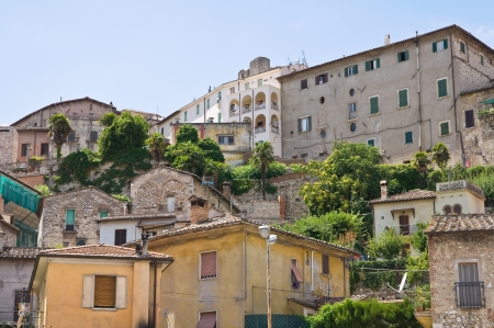 etruscan: Panoramic view of Narni  Umbria  Italy