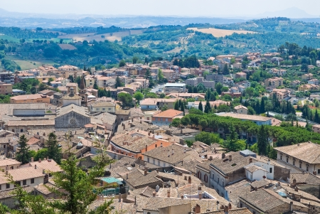 etruscan: Panoramic view of Amelia. Umbria. Italy.