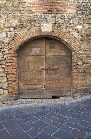 tuscia: Wooden door  San Gemini  Umbria  Italy