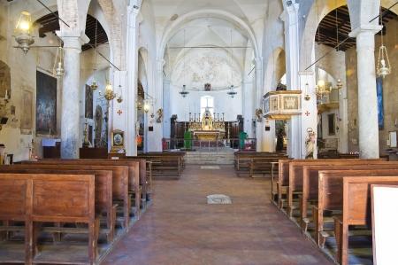 etruscan: Church of St. Donato. Civita di Bagnoregio. Lazio. Italy.