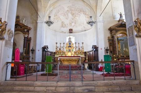 tuscia: Church of St. Donato. Civita di Bagnoregio. Lazio. Italy.