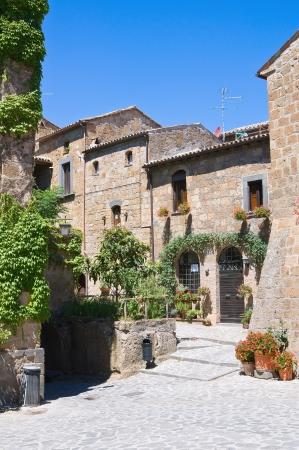 etruscan: Alleyway. Civita di Bagnoregio. Lazio. Italy.