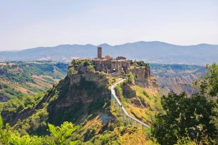 tuscia: Panoramic view of Civita di Bagnoregio. Lazio. Italy. Stock Photo