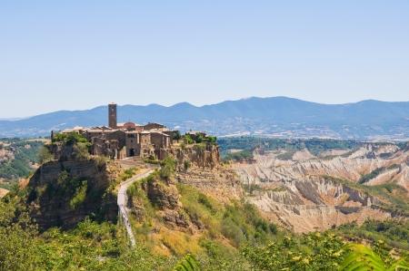 etrurian: Panoramic view of Civita di Bagnoregio. Lazio. Italy.