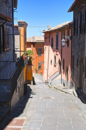 Alleyway. Montefiascone. Lazio. Italy.  photo