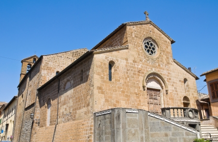 etruscan: Church of St. Francesco. Capranica. Lazio. Italy. Stock Photo