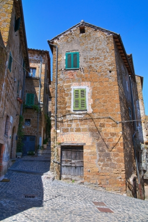 Alleyway. Capranica. Lazio. Italy. photo