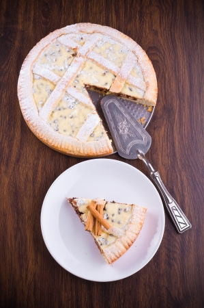 Ricotta cheese crostata.  photo