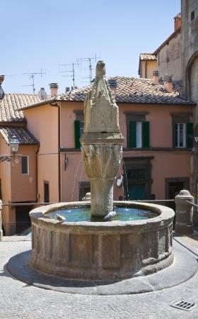 Monumental fountain. Soriano nel Cimino. Lazio. Italy.  photo