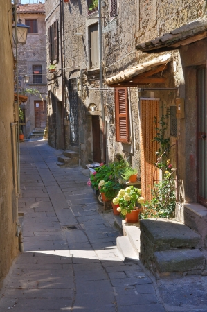 Alleyway. Bagnaia. Lazio. Italy. photo
