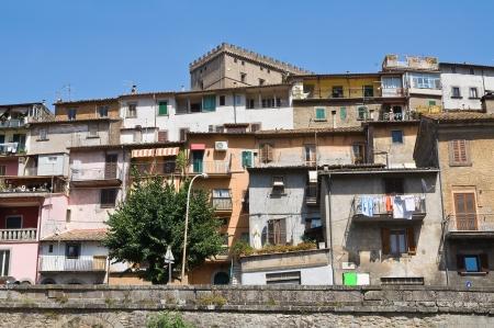 Panoramic view of Soriano nel Cimino. Lazio. Italy.  photo