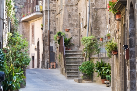 vitorchiano: Alleyway. Vitorchiano. Lazio. Italy. Stock Photo