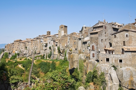 Panoramic view of Vitorchiano. Lazio. Italy.  photo