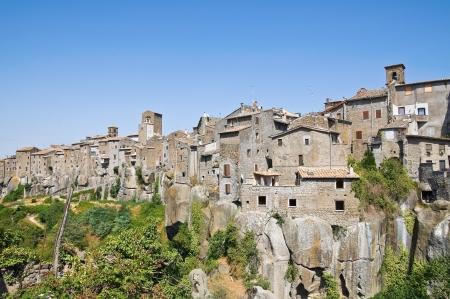 tuscia: Panoramic view of Vitorchiano. Lazio. Italy.