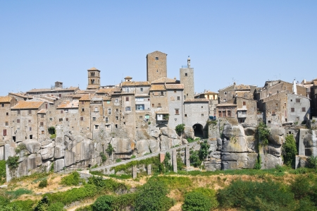 rooftile: Panoramic view of Vitorchiano. Lazio. Italy.