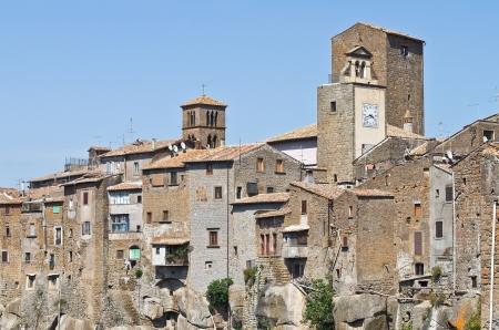 etruscan: Panoramic view of Vitorchiano. Lazio. Italy.