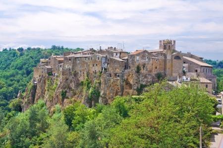 tuscia: Panoramic view of Calcata. Lazio. Italy.