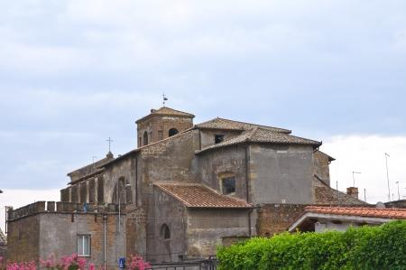 tuscia: Cathedral of Nepi. Lazio. Italy. Stock Photo