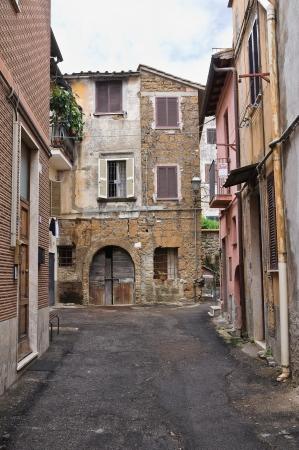 etruscan: Alleyway. Nepi. Lazio. Italy.