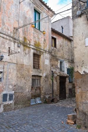 etruscan: Alleyway. Calcata. Lazio. Italy.