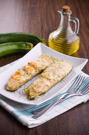 Zucchini stuffed with cheese Stock Photo - 16263094