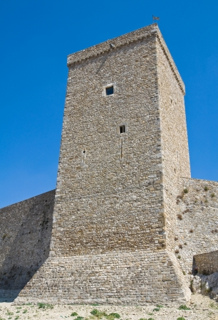 norman castle: Norman swabian castle of Deliceto. Puglia. Italy.