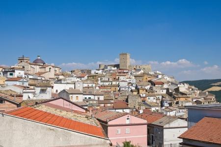 daunia: Panoramic view of Deliceto  Puglia  Italy