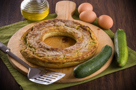courgette: Courgette flan.