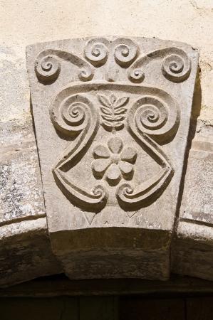 Historical palace. SantAgata di Puglia. Italy. Editorial