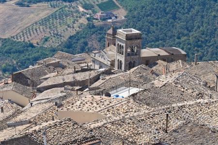 Panoramic view of SantAgata di Puglia. Puglia. Italy.