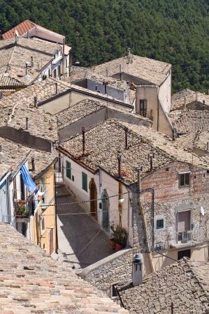 daunia: Panoramic view of SantAgata di Puglia. Puglia. Italy.
