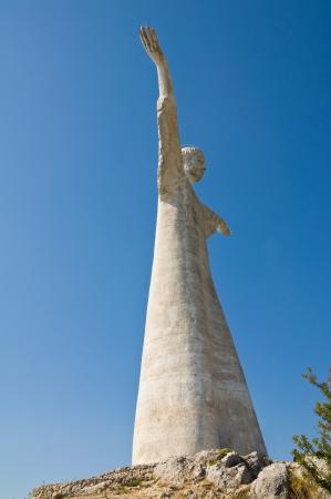 maratea: Christ the Redeemer of Maratea. Basilicata. italy.