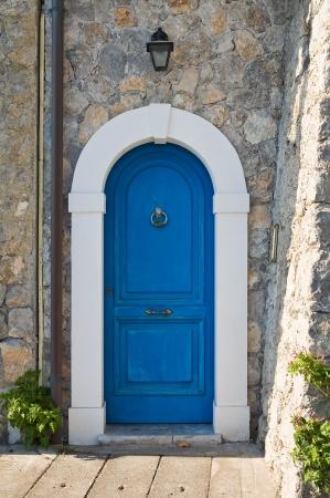 maratea: Wooden door. Maratea. Basilicata. Italy.